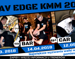 KRAV EDGE KMM – BUS FIGHT, BAR FIGHT, CAR DEFENSE – warsztat sytuacyjny