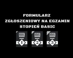 EGZAMIN  NA STOPIEŃ SZKOLENIOWY BASIC 1/2/3 – FORMULARZ ZGŁOSZENIOWY I WYMAGANIA