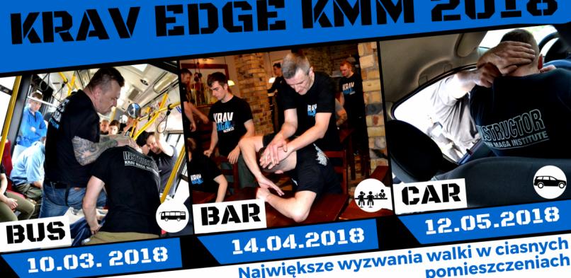 KRAV EDGE KMM – BUS FIGHT, BAR FIGHT, CAR DEFENSE – warsztat sytuacyjny